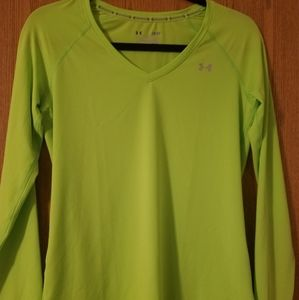 Under Armour Fitted Lime Green Heat Gear S…